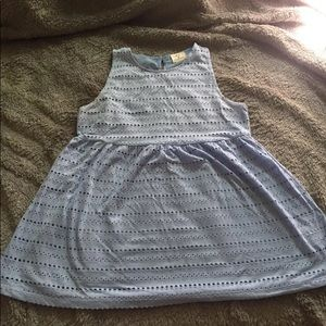 Urban Outfitters Baby Blue Flowy Eyelet Tank